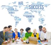People at Meeting about Success Growth — Stock Photo