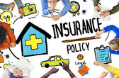 Casual People discussing about Insurance — Stock Photo