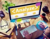 Online Analyze Plan Research — Stock Photo