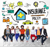 Casual People and Insurance Concept — Stock Photo