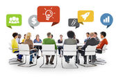 Diversity People at the meeting — Stock Photo