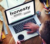 Digital Dictionary Honesty Values Integrity Concept — Stock Photo