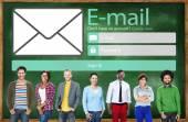 电子邮件在线消息社交媒体互联网概念 — 图库照片