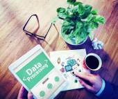 Online Data Processing Technology — Stock Photo