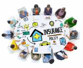People discussing about Insurance Policy — Stock Photo