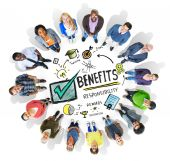 Diverse people around the Benefits Concept — Stock Photo