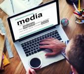 Conceitos de significado do homem mídia digital www — Fotografia Stock