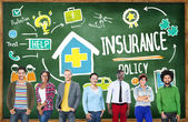 Diverse people and Insurance Policy Concept — Stock Photo
