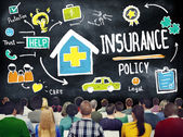 People at seminar about Insurance Policy — Stock Photo