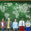 Diverse people and social Media Concept — Stock Photo #72022337