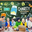 People Discussion about Charity Concept — Stock Photo #72023213