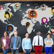 Diverse people and Global Community Concept — Stock Photo #72025645