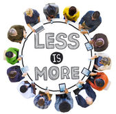 Diverse people and Less is More Concept — Stock Photo