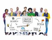 Diverse people and Creative process concept — Stock Photo