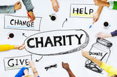 People around the Charity Concept — Stock Photo