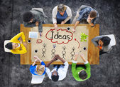 People in a Meeting and Ideas Concept — Stock Photo