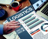 Businessman working with Logistics — Stock Photo