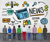 People and News Journalism Information Concept — Stock Photo