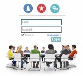 Diverse people and Log in Concept — Stock Photo