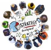 Lidé a koncepce rozvoje strategie — Stock fotografie