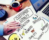 Businessman working with Customer Loyalty Concept — Zdjęcie stockowe