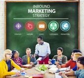 Diverse people and Inbound Marketing Concept — Stock Photo