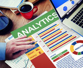 Empresario con Analytics — Foto de Stock