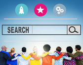 Diverse people and Search Browsing — Stock Photo