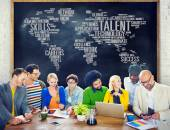 Diverse people discussing about Talent — Stock Photo
