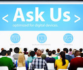 Diverse people at the seminar — Stock Photo