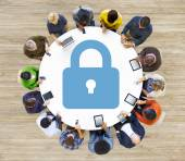 Diverse people and Password Concept — Stock Photo