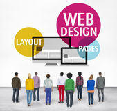 Diverse people and Web Design Concept — Stock Photo