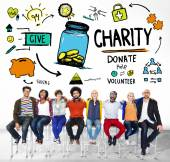 People and Charity Concept — Stock Photo