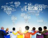 Diverse people and E-Business Concept — Stock Photo