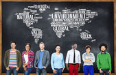 Diverse people and Environment Concept — Stock Photo