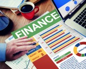 Businessman working with Finance — Stock Photo