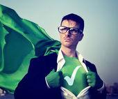 Check Mark Strong Superhero — Stock Photo
