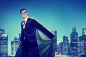 Strong Powerful Business Superhero — Stock Photo