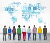 Diverse people and Countries Nation Concept — Stock Photo