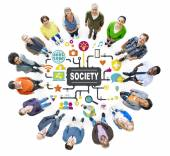 Diverse people and Society Concept — Stock Photo