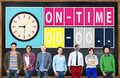 Diverse people and On Time Concept — Stock Photo