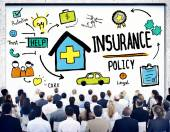 Business People Insurance Policy Seminar — Stock Photo