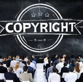 People at seminar about Copyright — Stockfoto