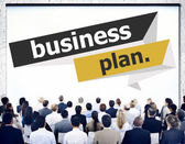 People at seminar about Business Plan — Stock Photo