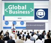 Business People Global Business Presentation — Stock Photo