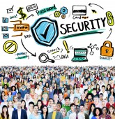 Diverse people and Security Concept — Stock Photo