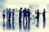 Podnikatelé v salónek — Stock fotografie