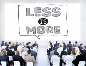 People at seminar about Less is More — Stock Photo