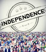 Diverse people and Independence Concept — Stock Photo