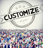Diverse people and Customize — Stock Photo